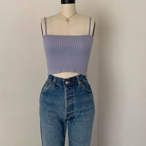 Brandy Melville blue ribbed tank top NWT sz s